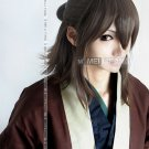 Japan Anime Hakuouki Okita Souji Brown Cosplay Costume Wig