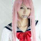 Vocaloid Long luka ruka Dark Pink Cosplay Wig 100CM