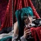 Vocaloid Hatsune Miku Cosplay Wig deep Green 2 clip on Ponytails 120cm