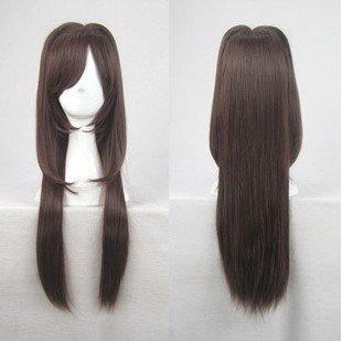 type moon fate/stay night Aozaki Aoko long dark brown cosplay wig