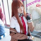 Steins;Gate Makise Kurisu  Mix Orange Cosplay Wig 100CM + Free Shipping