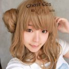 AMNESIA Heroine Flaxen light brown Anime Cosplay wig