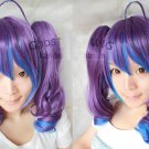 Vocaloid ANTI-THE∞HOLiC purple blue mix cosplay wig 2*curly clips