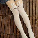 Hot Sell Japan LOLITA Women Cosplay Sock Hose white bunny Tattoo Legging Tight Stocking pantyhose