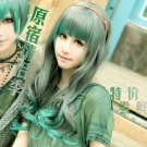 Japaness Harajuku beautiful hot sell gray green colours lolita long curly cosplay wig