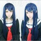 Danganronpa Dangan-Ronpa Sayaka Maizono Long straight 80cm Cosplay Wig Costume