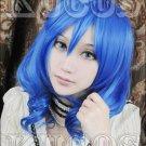 Karneval KIICHI Short blue Cosplay wig Costume headwear Free shipping