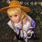 Touhou Project Moriya Suwako blonde 60cm long straight cosplay wig