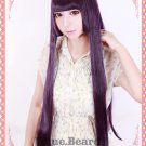 Gokou Ruri black cat Cosplay Fashion Straight black/purple 80cm wig