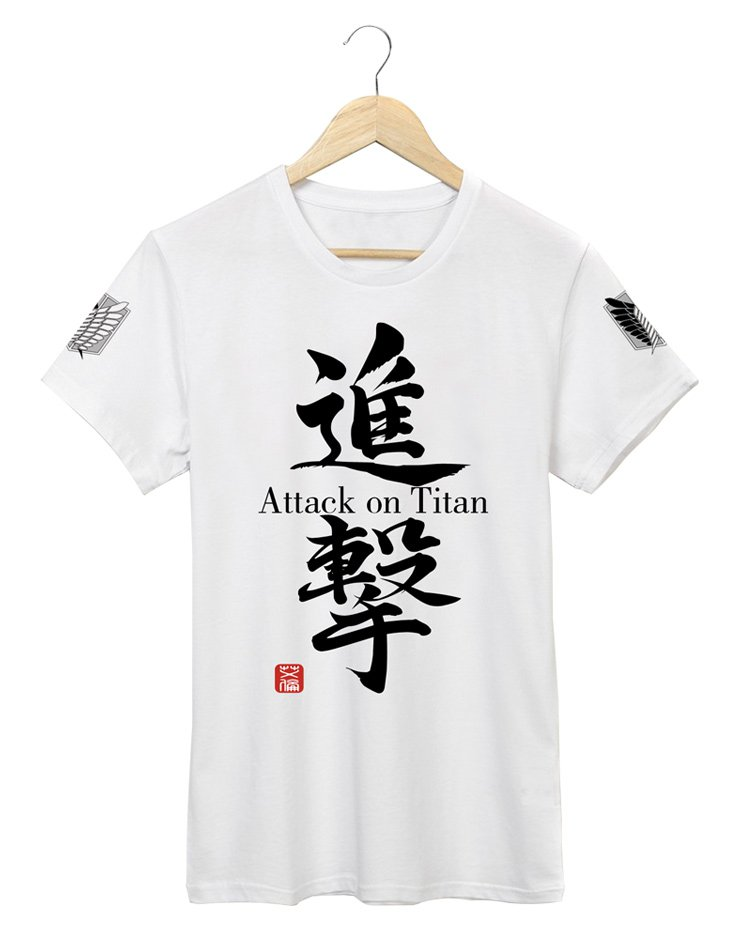 Anime Attack on Titan Investigation Corps White T-shirt Clothing DIY Cosplay Costume