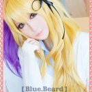 Kuroko's Basketball female Ryota Kise Sexual Turn Mix Blonde Curly Cosplay Wig 75cm