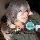 Togainu no Chi Akira short silver grey costume cosplay wig + wig cap