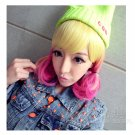 Fashion Japanese Harajuku Zippe yellow mix red Lolita Halloween Cosplay Party Wig
