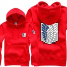 Hot sell Anime Attack on Titan Investigation Corps unisex long Sleeve red Cosplay Costume Hoodie