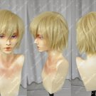 A messy tilting flax gold APH British universal thickened hair cos wig