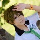 Free Tachibana Makoto short olive green cosplay party wig Halloween