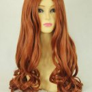 Brothers Conflict AsahinaHikaru long mix dark orange curly cosplay wig 60cm