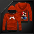 New Anime Super Mario Bros long Sleeve Unisex Hoodie red Cosplay Costume
