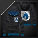 Hot sell Anime Attack on Titan military police black unisex long Sleeve Cosplay Costume Hoodie