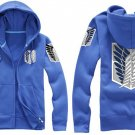 Investigation Corps Attack on Titan Anime Unisex blue Cosplay Costume Zip Hoodie
