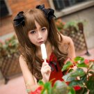 Fashion Hot Sell Lolita Brown Curly Cosplay Costume Wig
