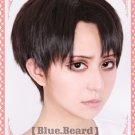 Attack On Titan Shingeki no Kyojin Rivaille Short Brown Cosplay Wig