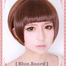 Hot Sell PSYCHO-PASS Tsunemori Akane short coffe Brown cosplay wig