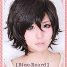 Devil Survivor 2 Kuze Hibiki Black short Cosplay wig + free shipping