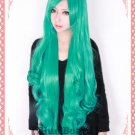 karneval IWA IVA Heat Resistant Curly 120cm Long green Ponytail Cosplay Wig