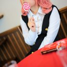Inu x Boku SS Secret Service Roromiya Karuta Pink Full Cosplay Party Hair wig