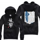 Anime Hot sell Attack on Titan Investigation Corps unisex long Sleeve black Cosplay Costume Hoodie