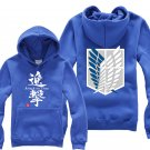 Anime Hot sell Attack on Titan Investigation Corps unisex long Sleeve blue Cosplay Costume Hoodie