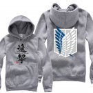 Anime Hot sell Attack on Titan Investigation Corps unisex long Sleeve gray Cosplay Costume Hoodie