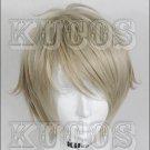 Haikyuu!! sugawara koushi golden grey short Cosplay wig + free shipping+ Free Wig Cap