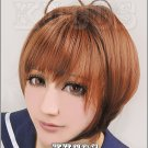 Hot!New!Cardcaptor sakura Kinomotosakura Brown  short Cosplay wig + free shipping+ Free Wig Cap