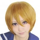 LOVE LIVE Hanayo Koizumi short tea brown Cosplay wig costume