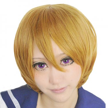 LOVE LIVE Hanayo Koizumi short tea brown Cosplay wig costume