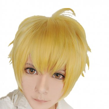 NEW! Noragami Yukine gold mix short Cosplay wig + free shipping+ Free Wig Cap
