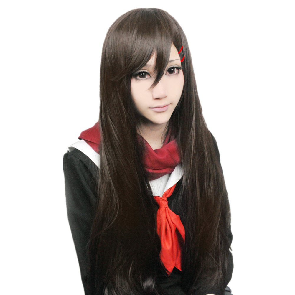 New!Hot!Phantom project Tateyama Ayano dark brown Cosplay wig + free shipping+ Free Wig Cap