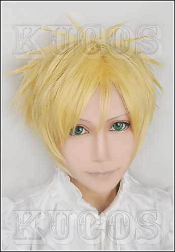 Kamigami no Itazura Apollon Agana belea golden Cosplay wig+free shipping+Free Wig Cap