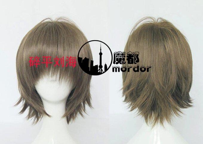 Hotarubi no mori e Takegawa Hotaru brown mix Cosplay wig+free shipping