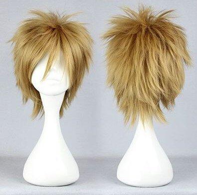 Starry Sky Ryunosuke Miyaji flaxen Cosplay wig+free shipping