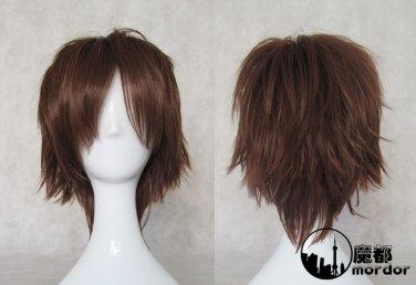 The Prince of Tennis Fuji Syusuke brown Cosplay wig+free shipping