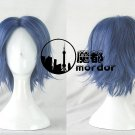 The Prince of Tennis Seiichi Yukimura blue black grey Cosplay wig+free shipping