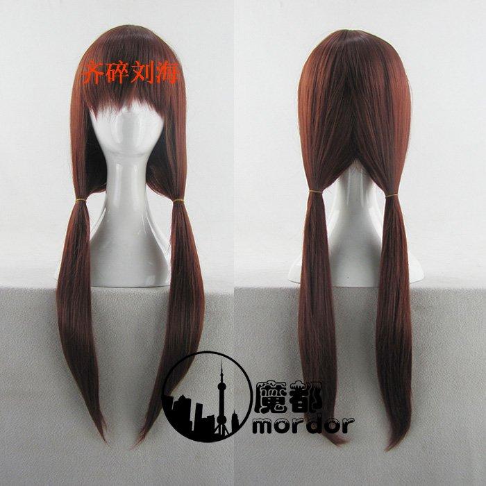 Neon Genesis Evangelion Makinami Mari Illustrious brown red Cosplay wig+free shipping
