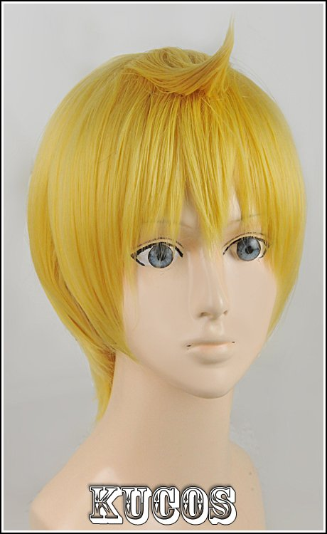 MAGI Alibaba golden Cosplay wig+free shipping+Free Wig Cap