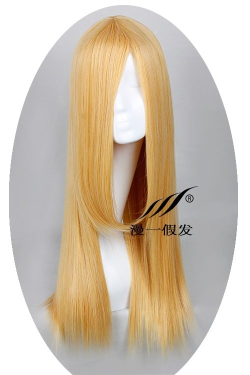 TIGER & BUNNY Karina Lyle golden 60cm Cosplay wig+free shipping+Free Wig Cap
