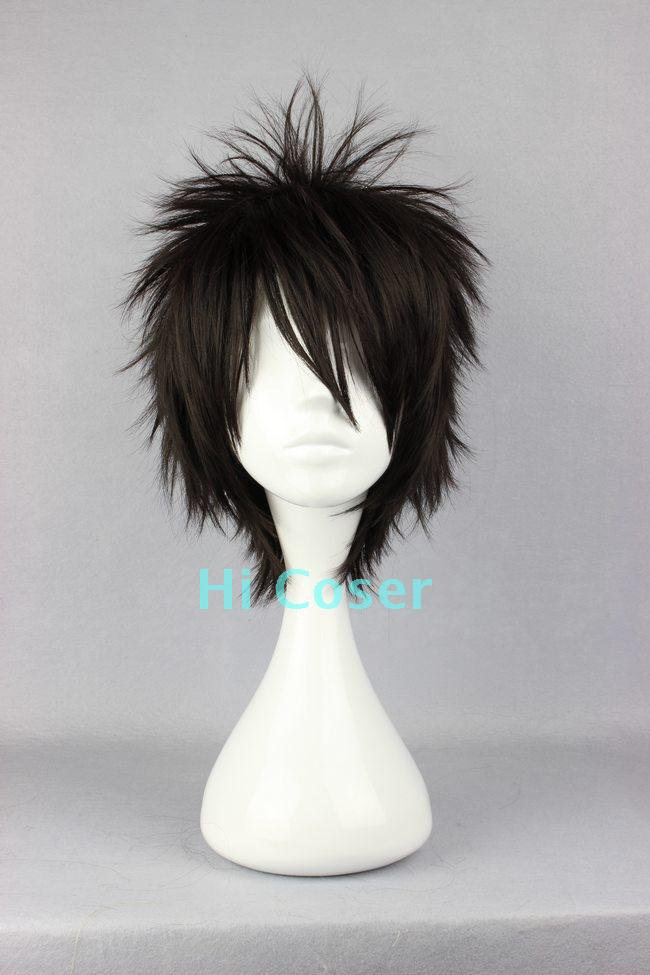 Naruto Momochi Zabuza black Cosplay wig+free shipping+Free Wig Cap