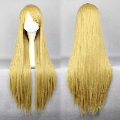 Naruto Senju Tsunade light flaxen 80cm Cosplay wig+free shipping+Free Wig Cap