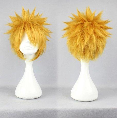 Naruto Uzumaki Naruto golden Cosplay wig+free shipping+Free Wig Cap